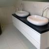 Глянцевая белая мебель в ванную в Сочи