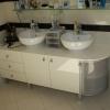 Набор мебели в ванную из МДФ и алюминиевого фасада