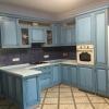 Голубая кухня на заказ в Сочи